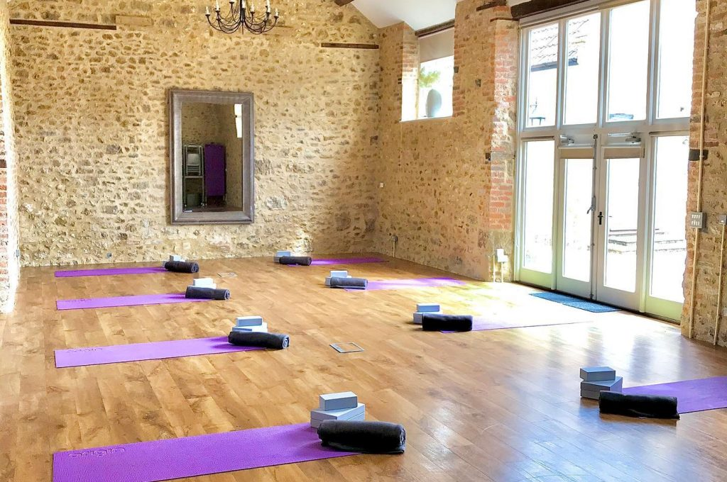 photo of yoga barn with 2m spacing a covid secure space